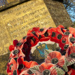 Stock Photo: Remembrance Poppy Wreath