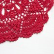 Stock Photo: Red crochet doily