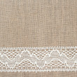 Burlap background with lace — Stock Photo #39896631