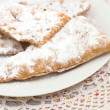 Chiacchiere - Traditional Italian carnival sweets — Stock Photo #40353177