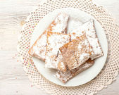 Chiacchiere - Traditional Italian carnival sweets — Stock Photo