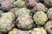 Artichokes on a market — Stock Photo