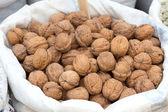 Walnuts on a market — Stock Photo