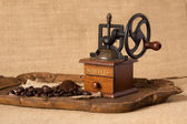 Antique Manual coffee grinder — Stock Photo