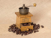 Antique coffee grinder — Stock Photo