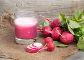 Fresh radish smoothy juice — Foto Stock