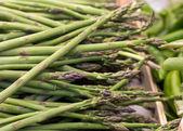 Fresh asparagus at the market  — Stock Photo