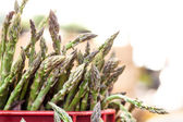 Fresh asparagus at the market — Stock Photo