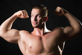 Muscled male model — Stockfoto