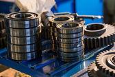 Metal gears close up — Stock Photo
