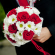 Wedding bouquet of flowers outside — Stock Photo