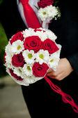 Hochzeit Blumenstrauß außerhalb — Stockfoto