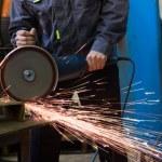 Work circular saw — Stock Photo #40545825