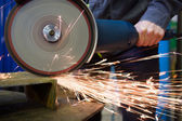 Work circular saw — Stock Photo