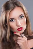 отличный портрет девушки — Стоковое фото
