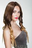 Beautiful Brunette Girl. Healthy Long Brown Hair. — Stock Photo