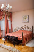 Interior room. curtains. drapes. bedroom — Foto de Stock