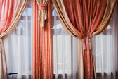 Interior room. curtains. drapes. bedroom — Stock Photo