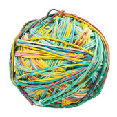 Ball of rubber bands. on white background. — Stock Photo