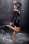Sexy girl in the rain. — Stock Photo
