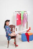 Pin-up girl. americký styl — Stock fotografie