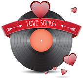 Love songs — Stock Vector