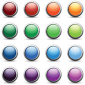 16 color web buttons — Stock Vector