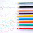 Colored lines drawn by pencils. — Stock Photo #38987151