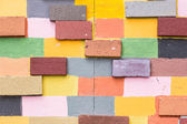 Colorful painted brick wall Background — Stockfoto