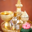 Wedding accessories decorate for Thai engagement ceremony — Stock Photo