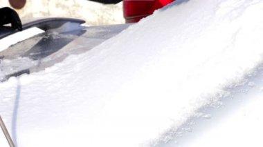 Winter car — Stock Video