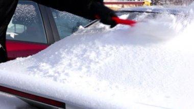 Vinter bil — Stockvideo