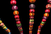 Multicolor of Chinese lanterns on night — Stock Photo