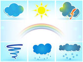 Weather vector icons set — Stock Vector