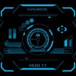 Futuristic user interface HUD — Stock Vector #42348455