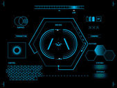 Futuristic user interface HUD — Vetorial Stock