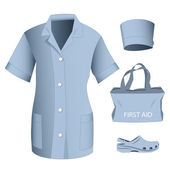 Woman medical clothes set — Vector de stock