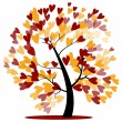 Autumn wedding tree — Stock Vector #51040413