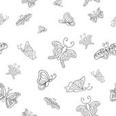 Seamless graphic pattern of butterflies — Stock Vector