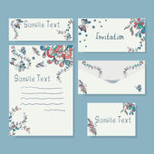 Templates of  invitation card and letter — Stock Vector