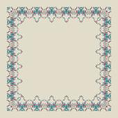 Ornamental doodling floral frame — Stock Vector