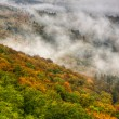 Fog over a valley 8 — Stock Photo