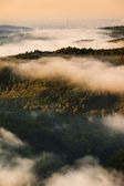 Fog over a valley 2 — Stock Photo
