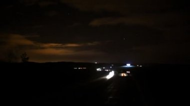Timelapse night highway 2 — Stock Video