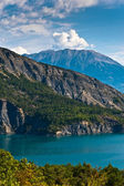 Dam in mountains — Stock Photo