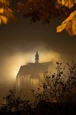 Foggy church — Zdjęcie stockowe
