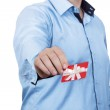 Man holding gift card — Stock Photo #39155487