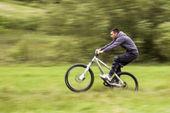 Biker in motion — Stock Photo
