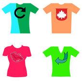 Camisetas, ropa — Vector de stock