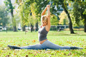 Yoga Hanumanasana — Stock Photo